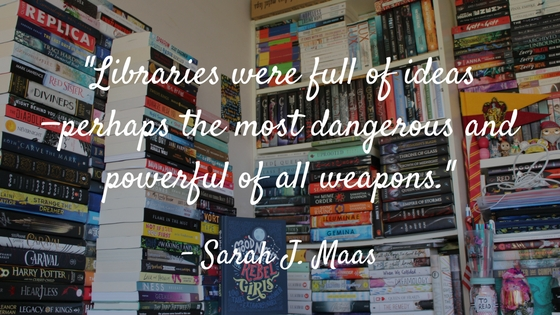Libraries were full of ideas - perhaps the most dangerous and powerful of all weapons
